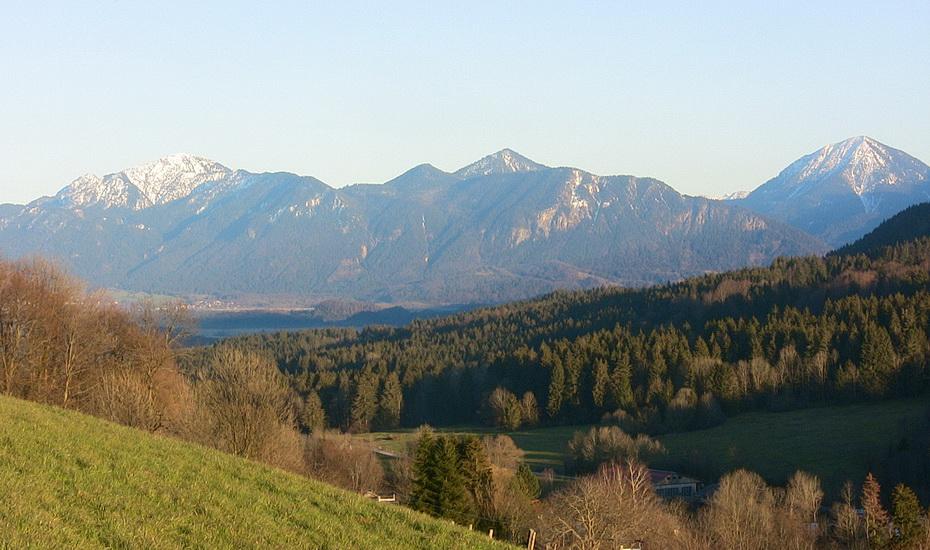 Blick Richtung Ohlstadt